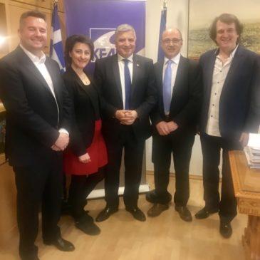 Συνάντηση του Προέδρου της ΚΕΔΕ Γ. Πατούλη με τον Πρόεδρο Γ. Κοντορίνη και μέλη της Εκτελεστικής Γραμματείας του Δικτύου Ελλήνων Αιρετών Ευρώπης