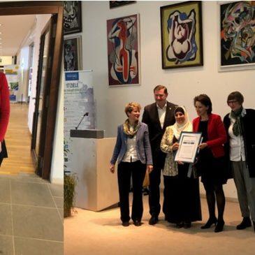 Το βραβείο «Agenda 2018» για το Διεθνές Κέντρο Γυναικών στο Solingen Γερμανίας παρέλαβε η κυρία Ιωάννα Ζαχαράκη
